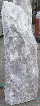 Monolithstein Weiss-Rosa